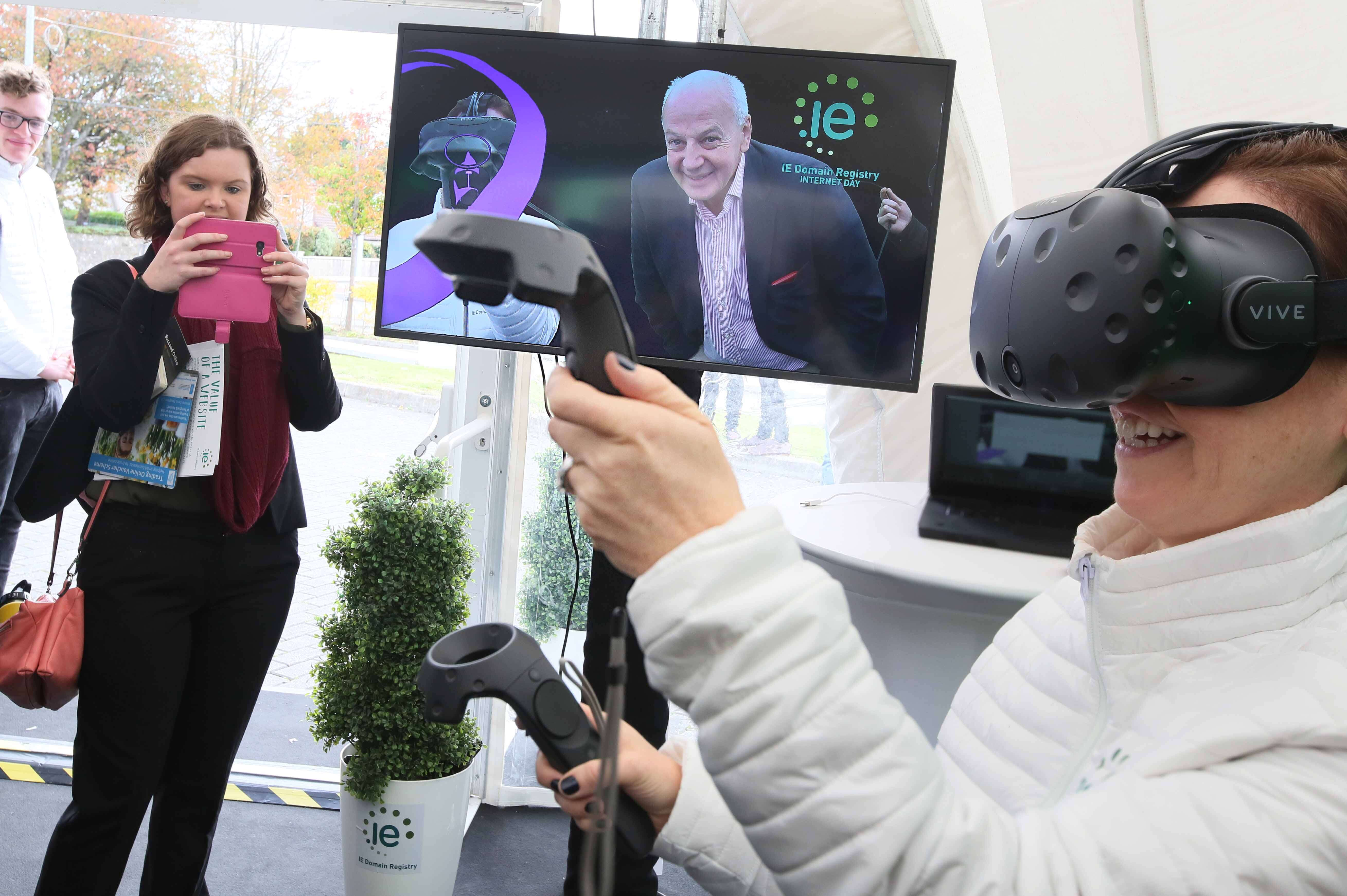 MC Bobby Kerr enjoying mixed reality experience