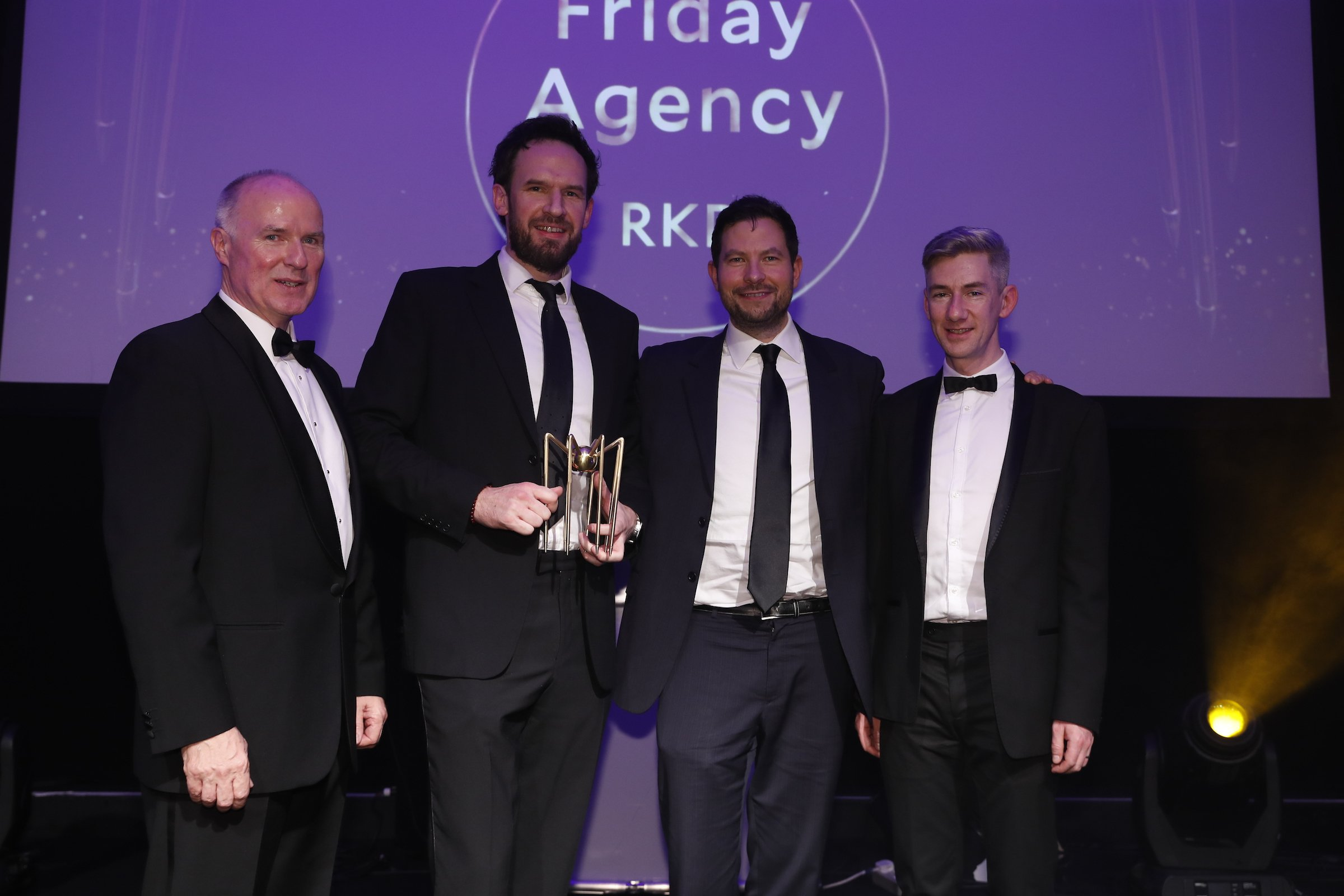 Spiders Awards 2019: David Curtin, CEO, .IE presenting Friday Agency with their award for Best Website