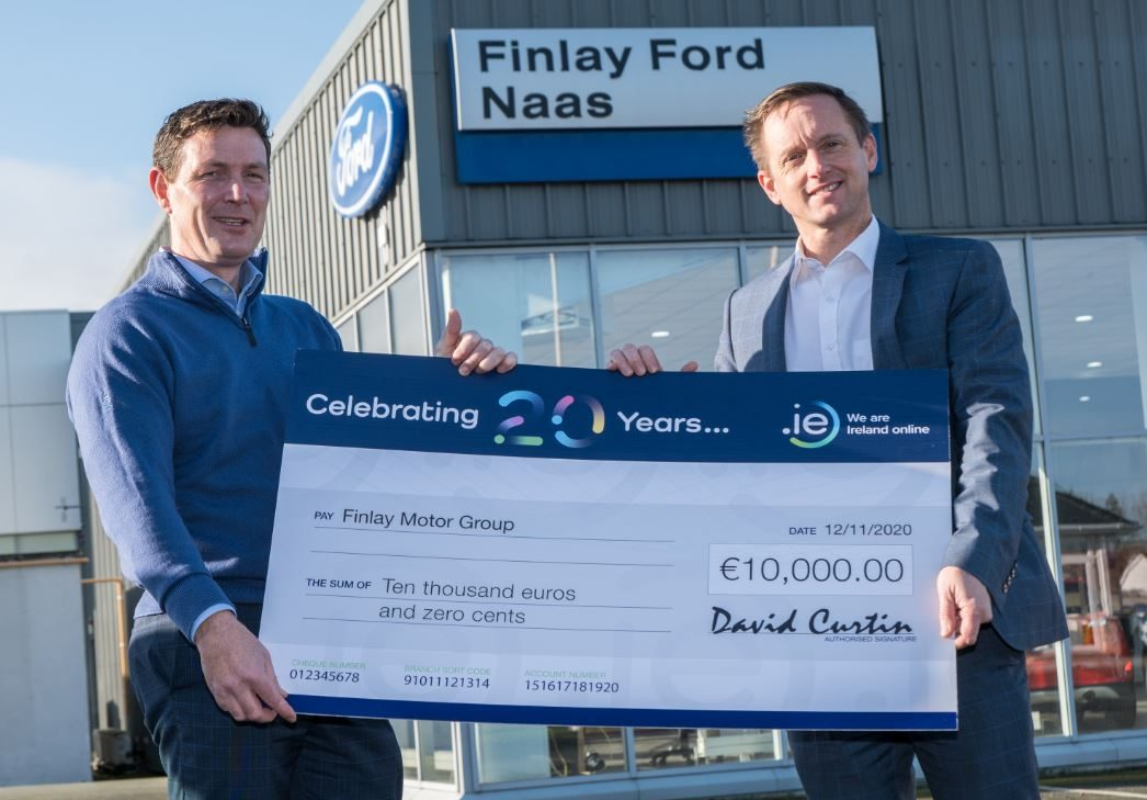 Finlay Motor Group wins €10K in .IE 20th Anniversary Competition