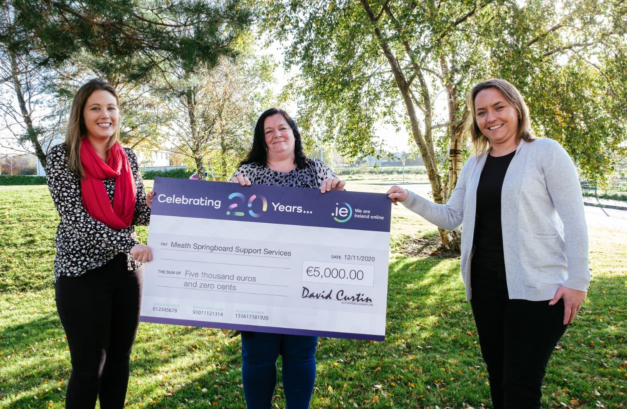 Meath Springboard Support Services wins €5K in .IE 20th Anniversary Competition