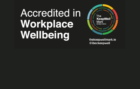 .IE accredited in workplace wellbeing - The KeepWell Mark