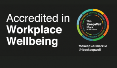 .IE is accredited in workplace wellbeing - The KeepWell Mark